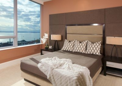 Dramatic Seattle Waterfront Bedroom