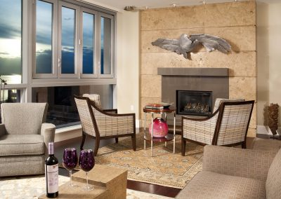 Dramatic Seattle Waterfront Fireplace